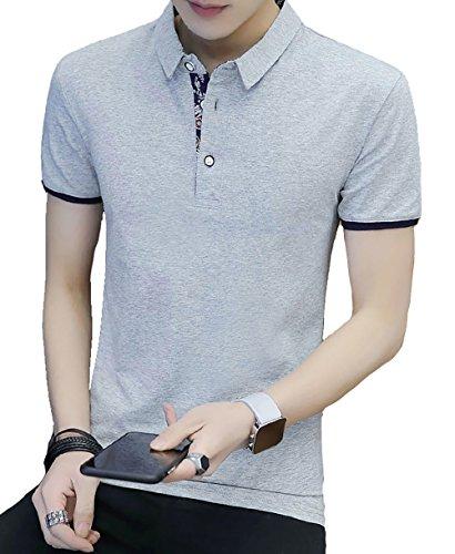 DuyTh Tシャツ メンズ ポロシャツ メンズ 半袖 作業着 夏 無地 ゴルフウェア