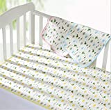 """KSB Extra large Size (41"""" x 27"""") Infant Baby Deluxe Ecological Cotton Change Pad,Waterproof Baby Diaper Changing Pad In Vibrant Color For Home And Travel-Under The Age Of 3"""