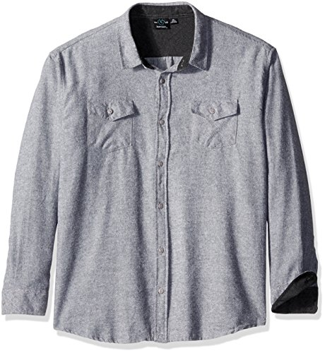 Long Sleeve Two Button Oxford Shirt (cater 2 Long Sleeve Button Up Solid Flannel Shirt Big and Tall Sizes Available)