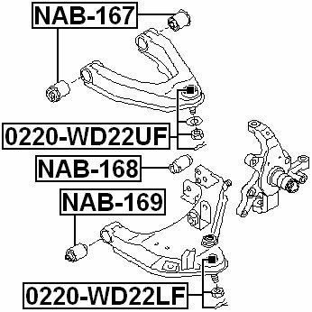 Nissan Oem Rear Arm Bushing Front Lower Arm 54560-8B400