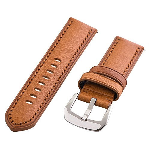 Clockwork Synergy Gentlemen's Collection - 21mm Saddle Aged Leather Watch Band - Synergy Collection