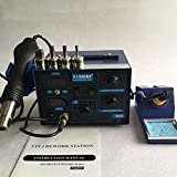 220V or 110V Saike 952D 750w Power 2 in 1 Hot Air Gun Solder Iron Soldering Station For Computer Repair Welding
