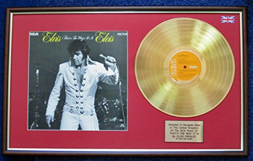 Elvis Presley - 24 Carat Gold Disc and Cover - That's The Way it is UK Music Awards