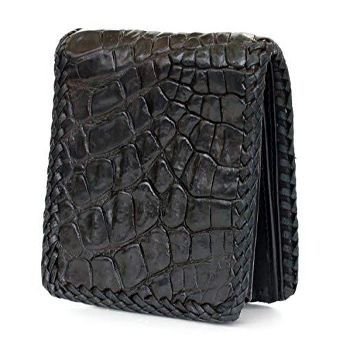 f953e209e45a DaysArt(デイズアート)本革 2つ折り財布 クロコダイルスキン レザーウォレット 札入れ ワニ