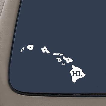 Car Decal Home Decal HI Sticker Laptop Macbook State Decal Love Hawaii Decal