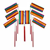 Bilipala Rainbow Rhythmic Gymnastics Ribbon Wand, Praise Dancing Streamers, Baton Twirling Ribbons For Kids, 8 Counts
