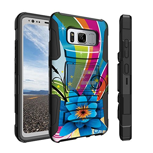 Untouchble Case for Samsung Galaxy S8 Active [WILL ONLY FIT ACTIVE VERSION] [Heavy Duty Clip] Holster Clip Case with Dual Layer Case Shell and Kickstand