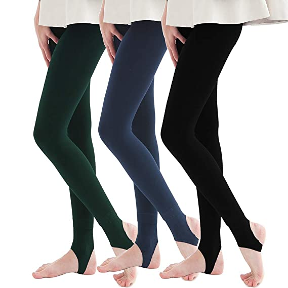 97614aa0d3f7c La Dearchuu Winter Leggings Women Thick Fleece Lined Leggings UK Size 6-12  Slim Compression Leggings Ladies Soft Base Layer Women Bottoms Petite  Leggings (3 ...