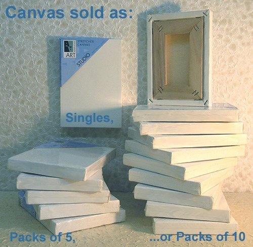 Art Alternatives 8 x 8 inch Pre-Stretched Studio Canvas,White (One Single Canvas) ()