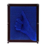 E-FirstFeeling 3D Pin Art Sculpture Extra Large 10'' X 8'' Pin Impression Hand Mold Board Toy Gift - Blue