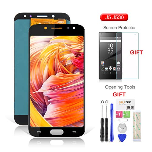NOT AMOLED Gold SRJTEK For Samsung Galaxy J5 Pro Screen Replacement-TFT LCD Screen for Samsung J5 2017 J530 J530F J530S J530K J530L J530FM J530Y J530YM Display Touch Digitizer Glass Assembly,