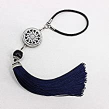YOYONY 30mm Car Perfume Diffuser, Car Aroma Accessory, Car Charm Decor Jewelry Diffuser, Hanging Locket Tassel Pendant Ornament, Wall Hanging Decoration, Ease Your Mood While Commuting (pattern-3)