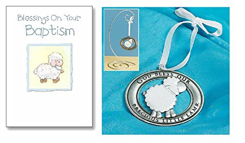 Lamb Ornaments (Baptism Blessing Lamb Ornament and Greeting Card)