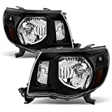 Toyota Tacoma OE Replacement Black Headlights Driver/Passenger Head Lamps