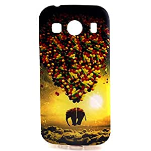 Zupro Colorful Pattern Thin Soft TPU Protective Case Cover for Samsung Galaxy ACE 4 G357,Coloured balloons