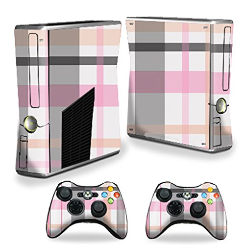 MightySkins Skin Compatible with X-Box 360 Xbox 360 S Console - Plaid   Protective, Durable, and Unique Vinyl Decal wrap Cover   Easy to Apply, Remove, and Change Styles   Made in The USA
