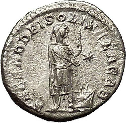 221 IT ELAGABALUS sacrificing over altar 221AD Ancient coin ()