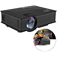 MOSTOP Mini Projector UC46 LED Projector Home Theater Cinema Game Projector, Multimedia HD 1080P Video HDMI/VGA/USB/SD Play