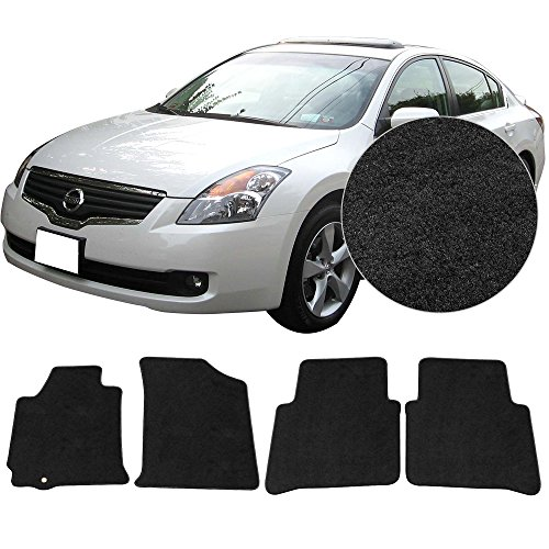 FloorMats Carpet Fits 2007-2012 Nissan Altima 4 Door Front Rear Black Nylon Mats 4 Pieces (2007 Nissan Altima 4 Piece)