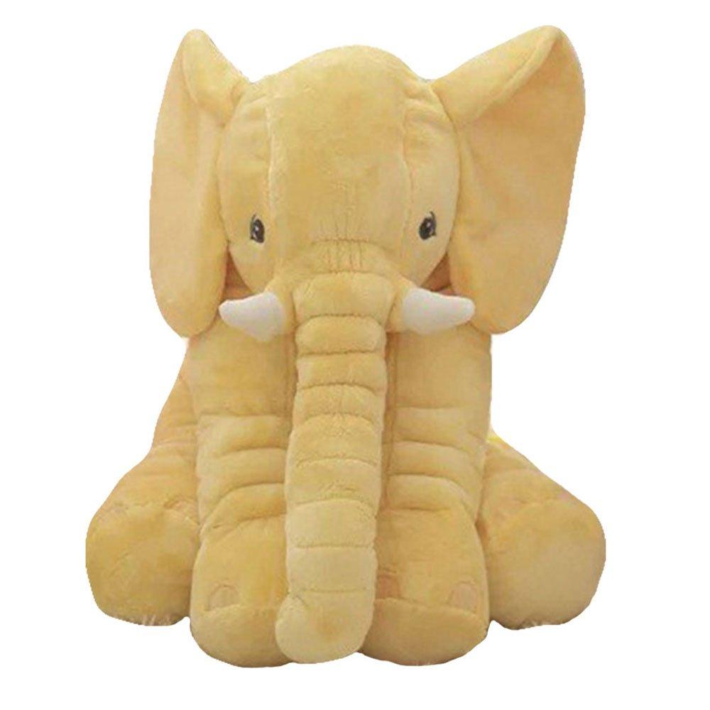 linshen Cute Cartoon 60cm Plush Elephant Doll Kids Sleeping Elephant Pillow Plush Toys (yellow)