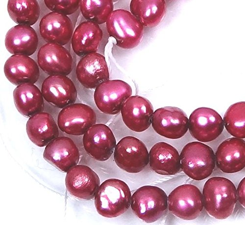 Loose Beads 4x5mm Purple Genuine Freshwater Pearl Potato Beads 16