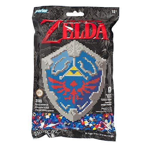(Perler 80-11125 Nintendo's The Legend of Zelda Hylian Shield Pattern and Fuse Bead Kit, 10.75'' x 13'', 3503pc, Multicolor )