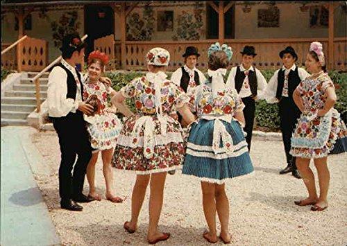 Popular Costume in Hungary Hungary Original Vintage Postcard
