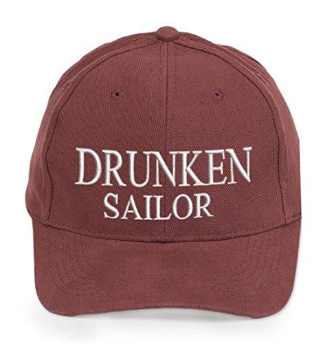 Cabin Baseball Mariner Captain 100 4sold Drunken Sailor De Boy Lettrage Yachting Mate Ancient First Marron Inscription Blanc Crew Cotton Casquette pXIxAqAn