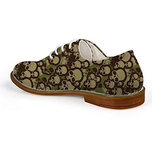 Mens Pattern Casual 1 Shoes Lace Oxford HUGS Skull Skull Up IDEA wEIWxqy7vt