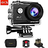 Apexcam 4K 16MP Action Camera 4X Zoom Underwater Waterproof Camera 40M 170°Wide-Angle WiFi