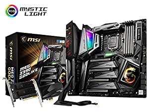 MSI MEG Z390 GODLIKE LGA1151 (Intel 8th and 9th Gen) M.2 USB 3.1 Gen 2 DDR4 Wi-Fi SLI CFX Extended ATX Z390 Gaming Motherboard