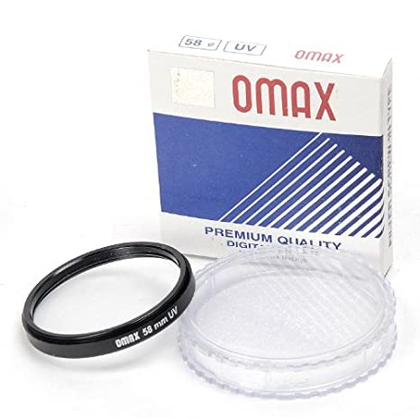 Omax 58mm uv Filter for Canon ef s 18 55mm f/3.5 5.6 is ii Lens