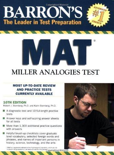 Barron's MAT: Miller Analogies Test (Barron's: The Leader in Test Preparation)
