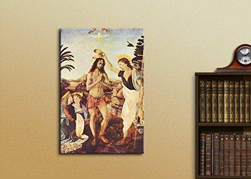 The Baptism of Christ by Leonardo da Vinci Print Famous Oil Painting Reproduction
