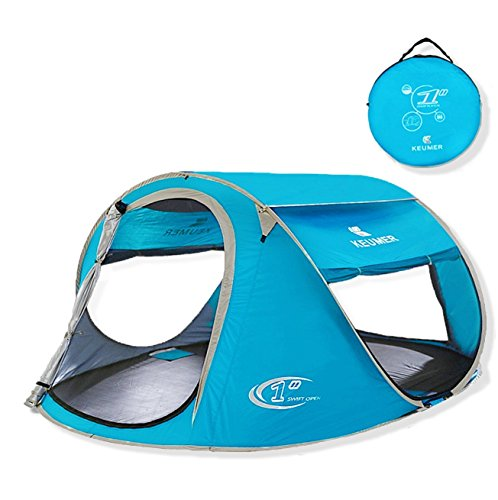 Pop Up Tent Beach Cabana Automatic Instant Setup Water Resistant Ventilation and Anti-UV for 2-3 Person for Camping Sun Shelter