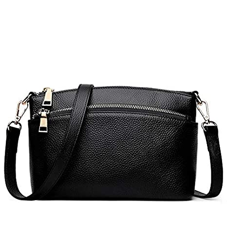 7a1d091ff6 Image Unavailable. Image not available for. Color  2018 Genuine Leather Women  Bag mplaner Brand Small Crossbody Bags Caul Shell Shoulder Messenger ...