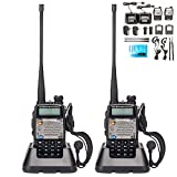 BaoFeng UV 5R Upgrade Version UV 5XP Extended Battery VHF UHF Two Way Radio 7.4v 8W Dual band Walkie Talkie 2 Pack
