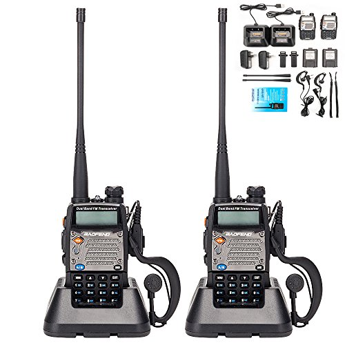 BaoFeng UV-5R Upgrade Version UV-5XP Extended Battery VHF UHF Two Way Radio 7.4v 8W Dual-band Walkie Talkie 2 (Headset Vhf System)