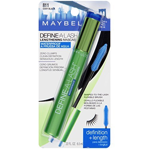 Maybelline Define-A-Lash Waterproof Mascara, Very Black [811], 0.22 oz (Pack of 6) by Maybelline New York
