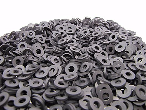 (100) Rubber Washers | 1/2 OD X 1/4 ID X 1/16 Inch | Neoprene Rubber Washers | MADE IN USA