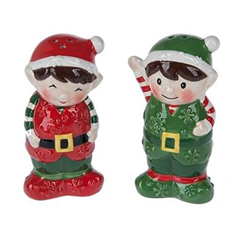 Pixie Elf Holiday Christmas Salt and Pepper Shaker Set Christmas