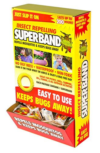 SUPERBAND 400 Pack All Natural Mosquito Repellent Bracelets - Guaranteed to Work - No Messy Lotions, Sprays, or Plastic - Fast & Easy! 30 Day Money Back Guarantee by Superband (Image #5)