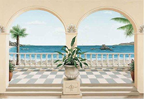 (Wallpaper Washington Wallcovering Idealdecor Wall Murals & Door Murals terrasse Provencale 103)
