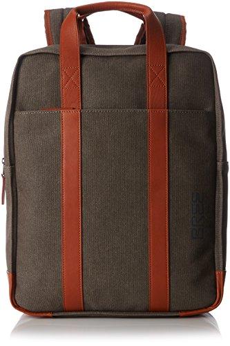 BREE Punch Casual 716, Grey/cognac, Backpack - Zaini Unisex Adulto, Grau (Grey), 11x40x31 cm (B x H T)