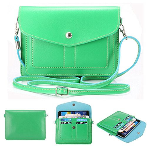 f76d02103e6 Universal Fashion Soft PU Leather Cell Phone Bag Purse Case Cross Body  Wallet Pouch with Shoulder