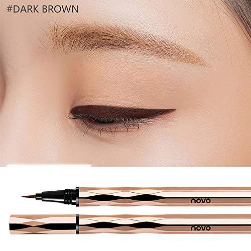 Waterproof Liquid Eyeliner, NOVO Slim Brown Eye liner Lasting Drama Liquid Eyeliner Pen, Makeup tools (Brown)