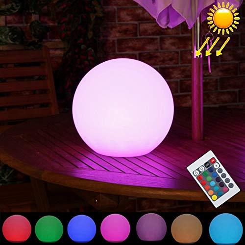 GuoBo LED light Lampada a LED GuoBo LEH-42321 Lampada a energia solare a sfera rotonda da 30 cm, giardino galleggiante che cambia Luce a LED coloreata con pannello solare e controllo remoto in silicio