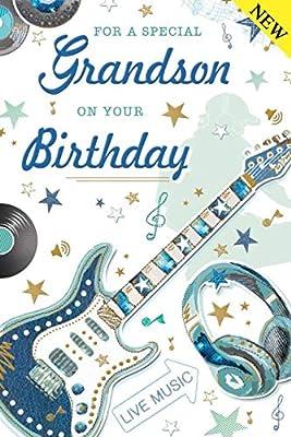 To A Special Nieto tarjeta del feliz cumpleaños guitarra y ...