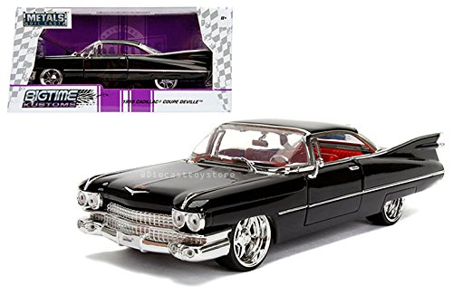 Kustom Metal - NEW DIECAST TOYS CAR JADA 1:24 WINDOW BOX METALS BIGTIME KUSTOMS 1959 CADILLAC COUPE DEVILLE BLACK 99989-MJ