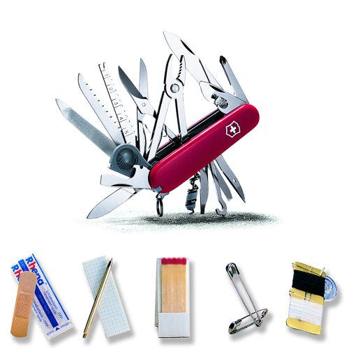 Victorinox Swiss Army Swiss Champ SOS Set Pocket Knife (Red), Outdoor Stuffs